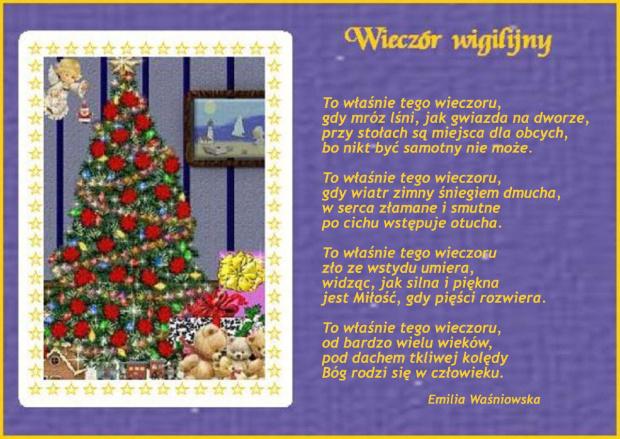Wiersz ten dedykuję wszystkim fotosikowym Przyjaciołom, znajomym i tym, którzy zajrzą tu nawet przypadkowo wraz z życzeniami pogodnych, radosnych, pełnych wiary i nadziei Świąt Bożego Narodzenia #BożeNarodzenie #życzenia