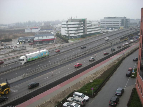 2008-01-24 Budowa wiaduktu nad Rondem Dudajewa