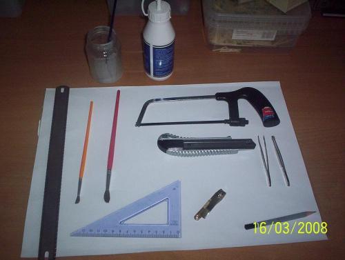 Narzędzia #modelarstwo #zapałki #narzędzia