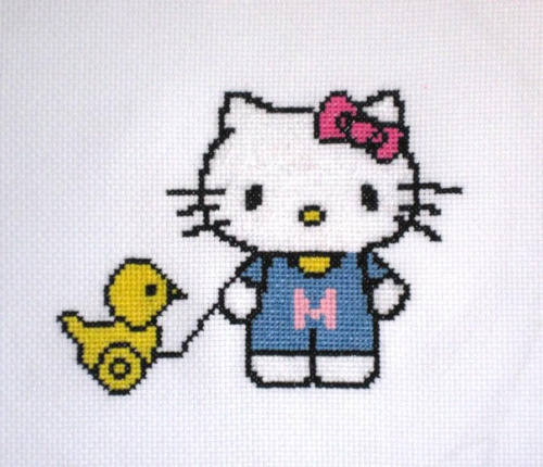 Ania, kl.V #HelloKitty #haft
