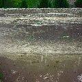 Droga w czasie gradobicia Bronowice Wielkie KRK 23/06/08 #gradobicie #grad #ulewa
