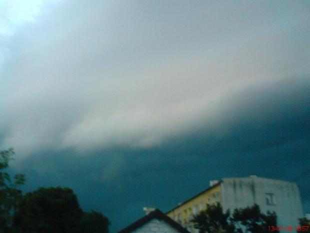 burza w Tomaszowie Maz.-13 lipca 2008 #burza #TomaszówMazowiecki #pogoda #chmura #Unwetter