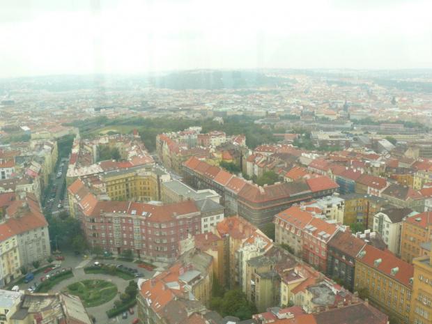 Widok z Wieży telewizyjnej #Praga